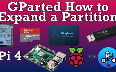 Resizing expanding a Partition with Gparted. Raspberry Pi 4. Custom builds Retropie & more