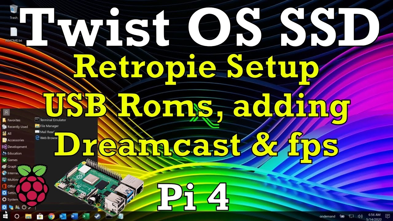 Twist OS. SSD Installation, Retropie Setup, USB Roms, adding Dreamcast and FPS Raspberry Pi 4.