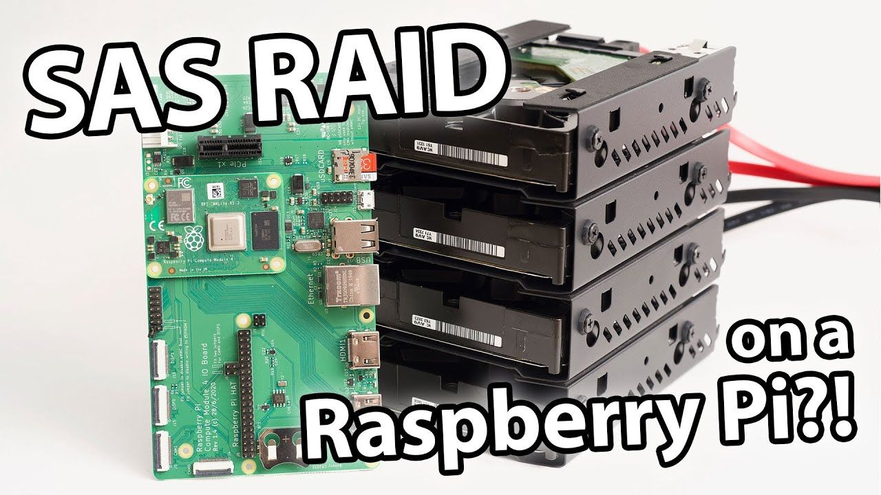 Enterprise SAS RAID …on a RASPBERRY PI?!