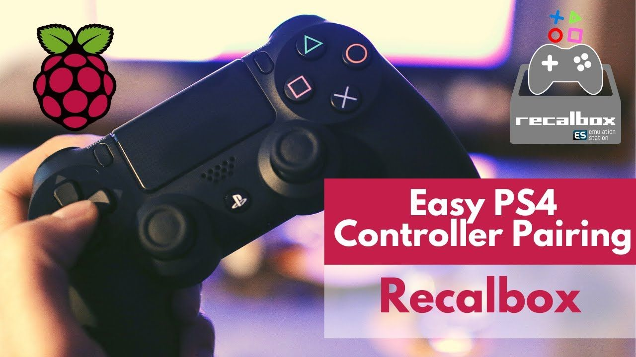 How to Pair PS4 Controller with Recalbox? (Bluetooth)