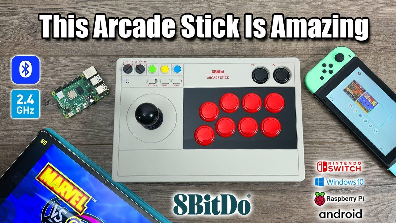 This Wireless Arcade Stick Is Amazing! Switch, PC, Android, Raspberry Pi