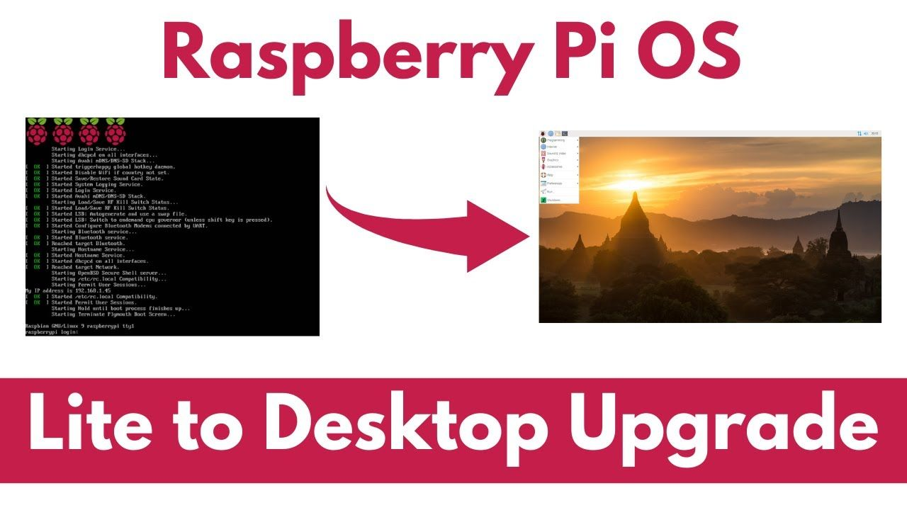 Upgrade Raspberry Pi OS Lite to Desktop (Raspbian)
