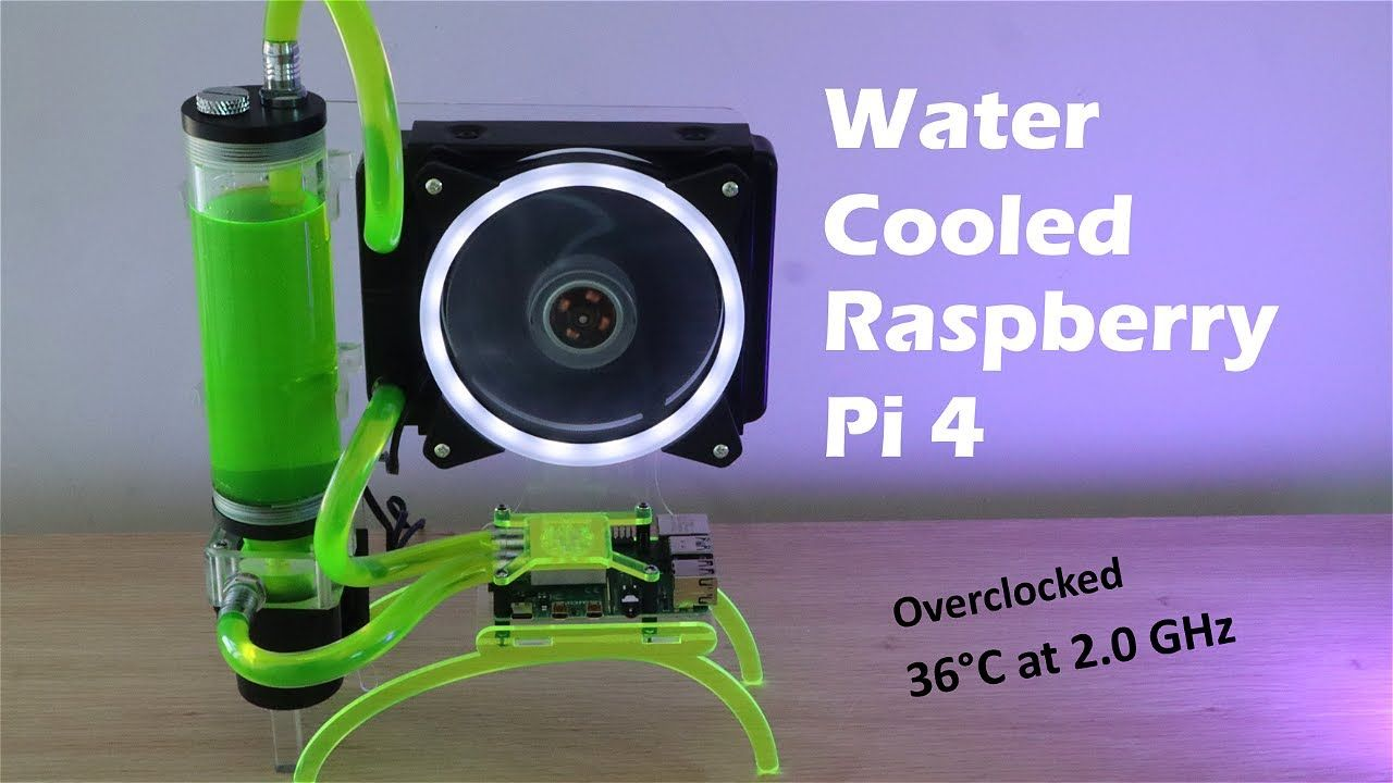 Water Cooled Raspberry Pi 4 – Totally Unnecessary, But Pretty Awesome