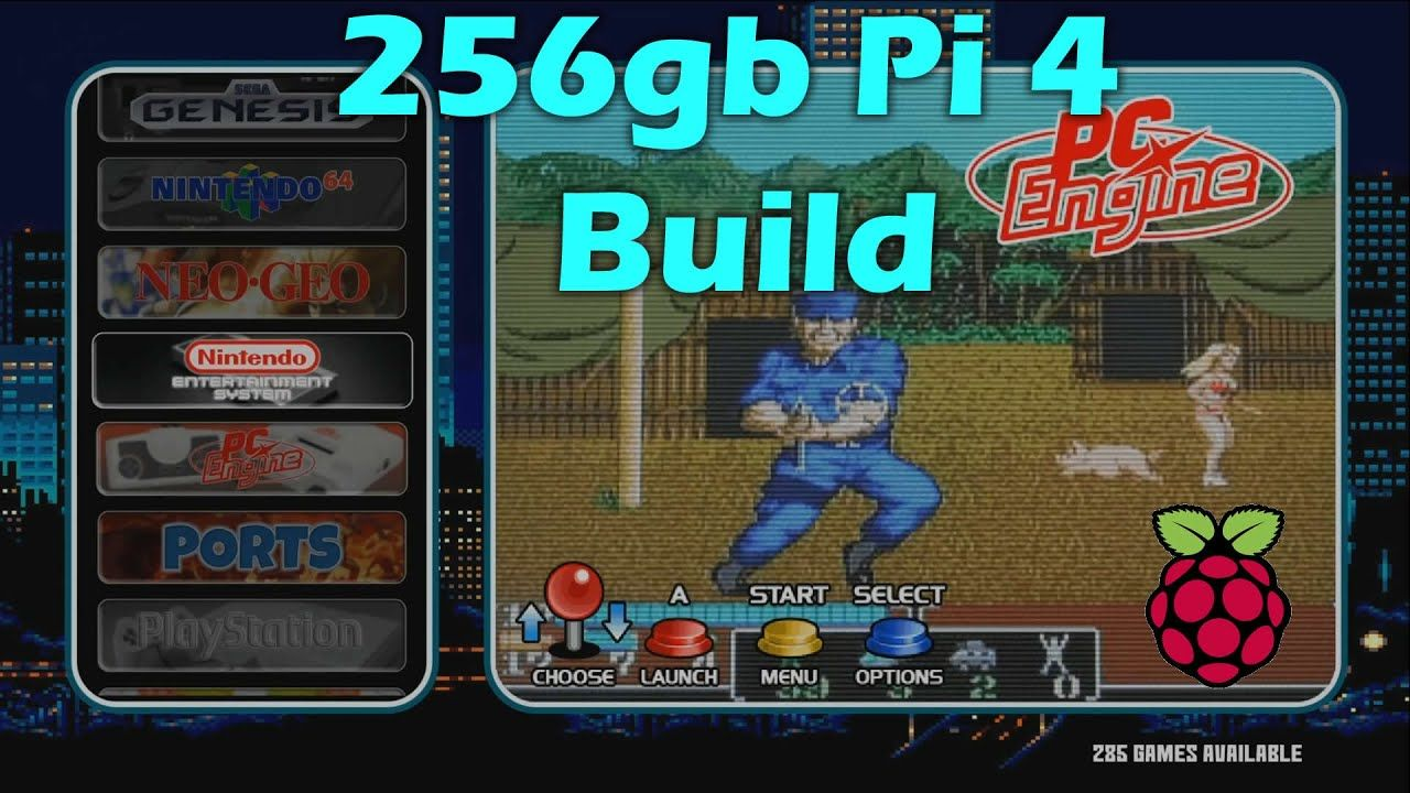 256gb Raspberry Pi 4 Retro Gaming Build – Arcade, Dreamcast, N64, and More
