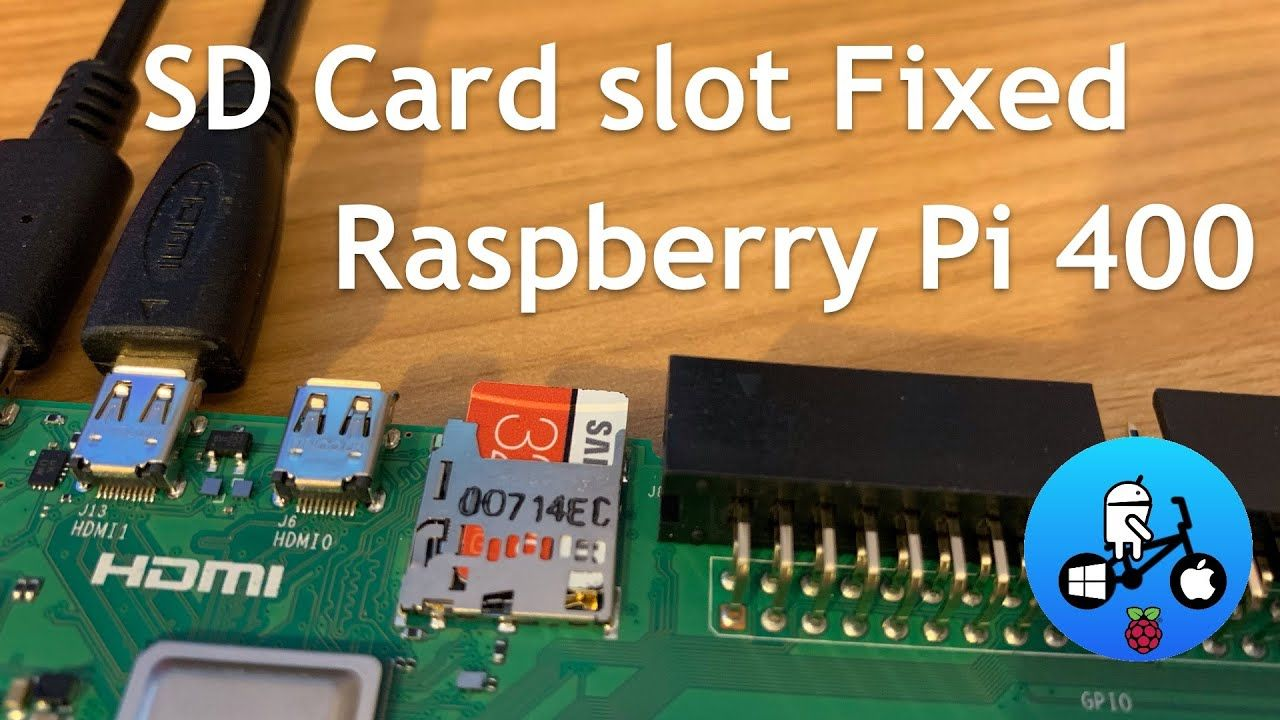 Micro SD card slot fix. Raspberry Pi 400.