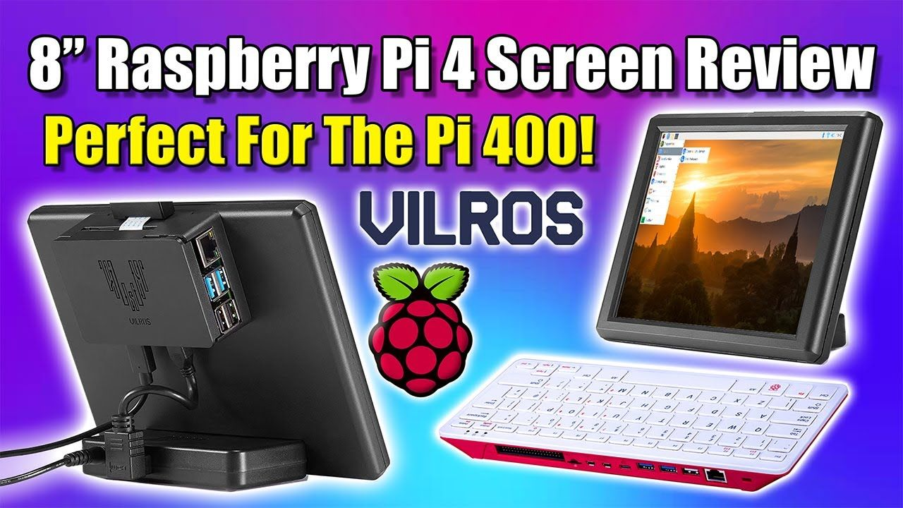 "This 8"" Screen Is Perfect For The Raspberry Pi 400 Or Pi4!"