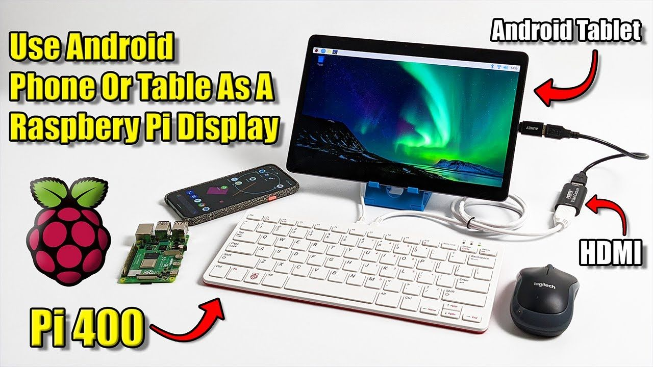 Use Your Android Phone Or Tablet As A Raspberry Pi 400 Screen!