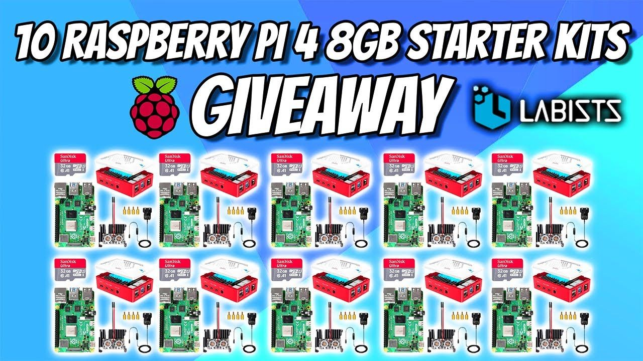 10 Raspberry Pi 8GB Starter Kits Giveaway!