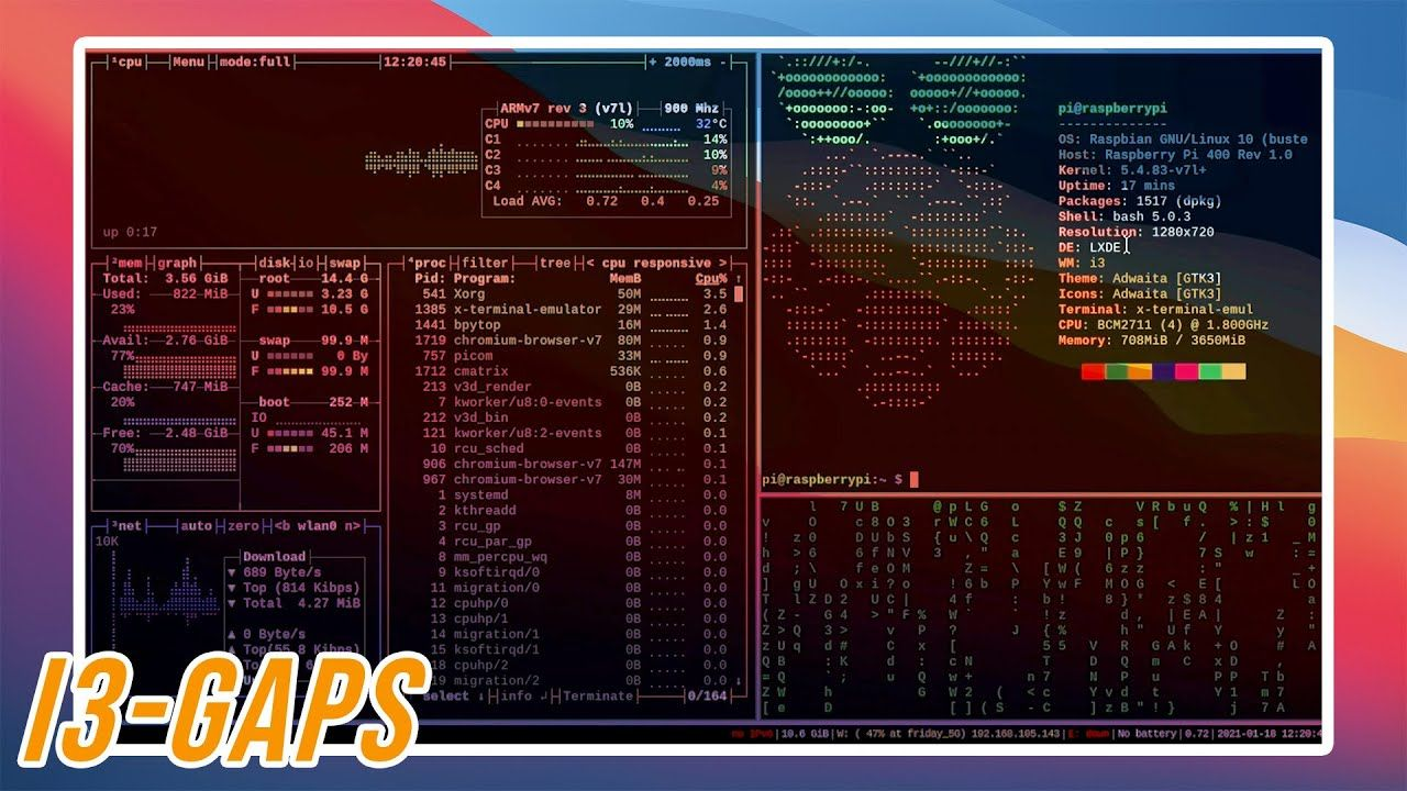 How to Install i3-gaps Tiling Window Manager on Raspberry Pi OS