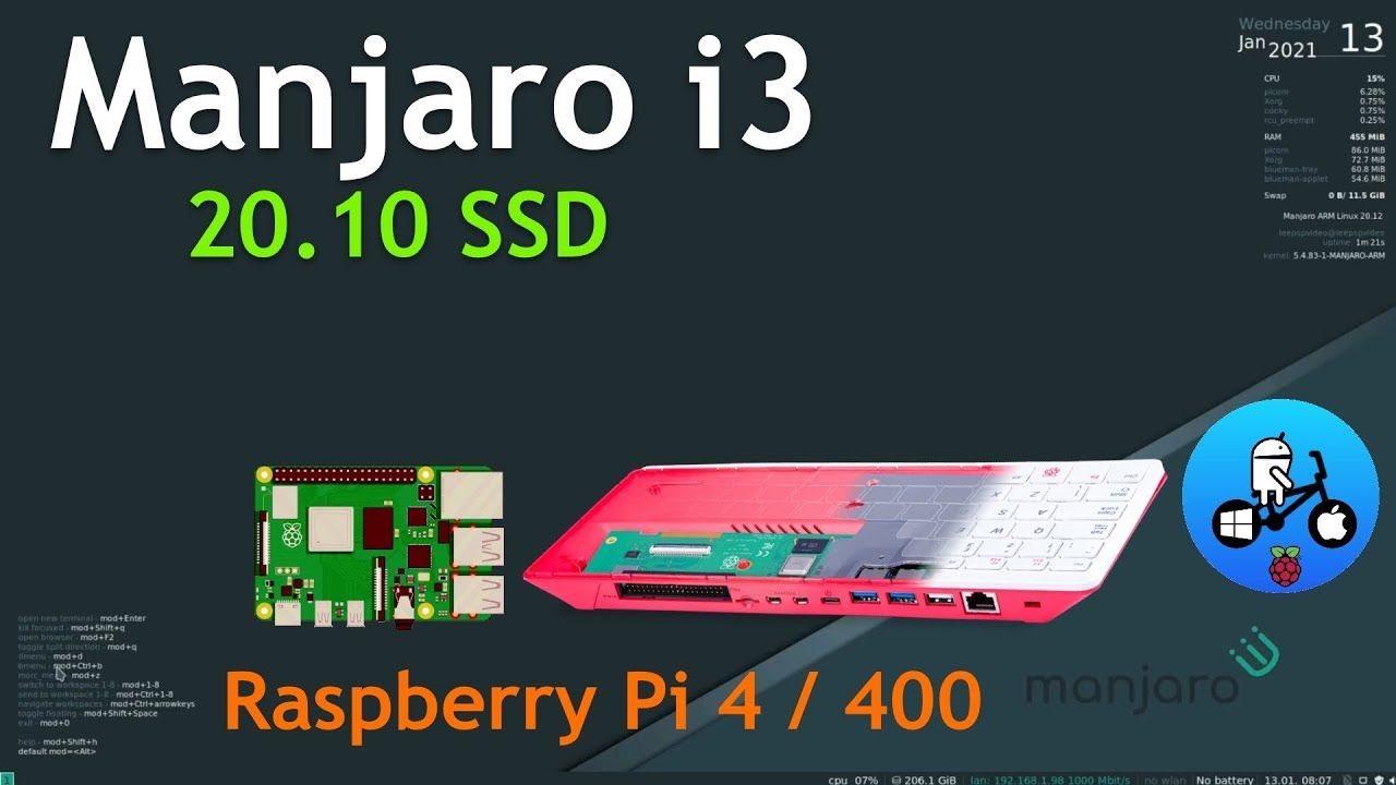 Manjaro i3 a Cool OS For Advanced users (not me) Raspberry Pi 4 / 400