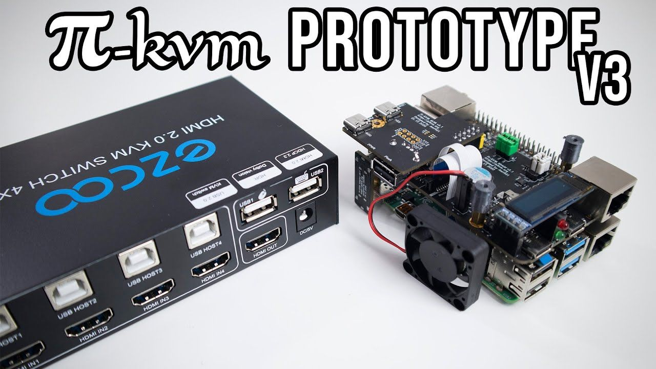 Pi-KVM – DIY CHEAP Raspberry Pi KVM over IP Prototype Version 3 Review!