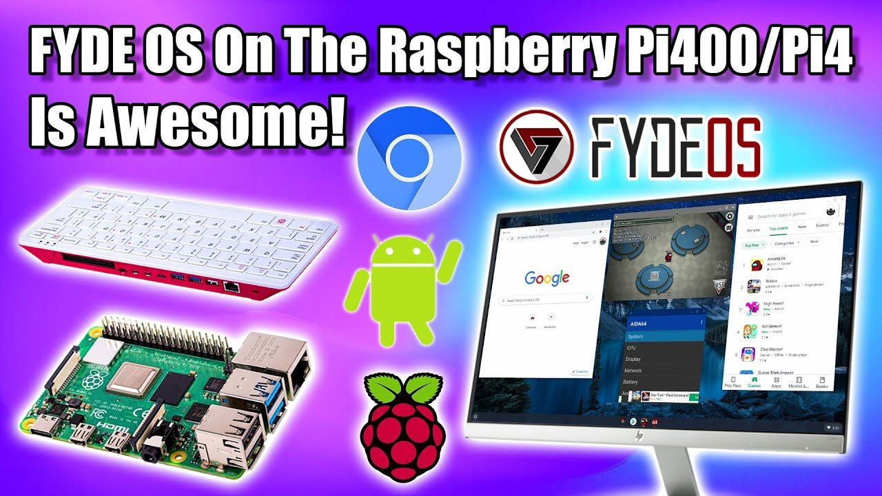 FYDE OS On The Raspberry Pi400 / Raspberry Pi 4 Is Awesome! – Chrome OS + Android Apps