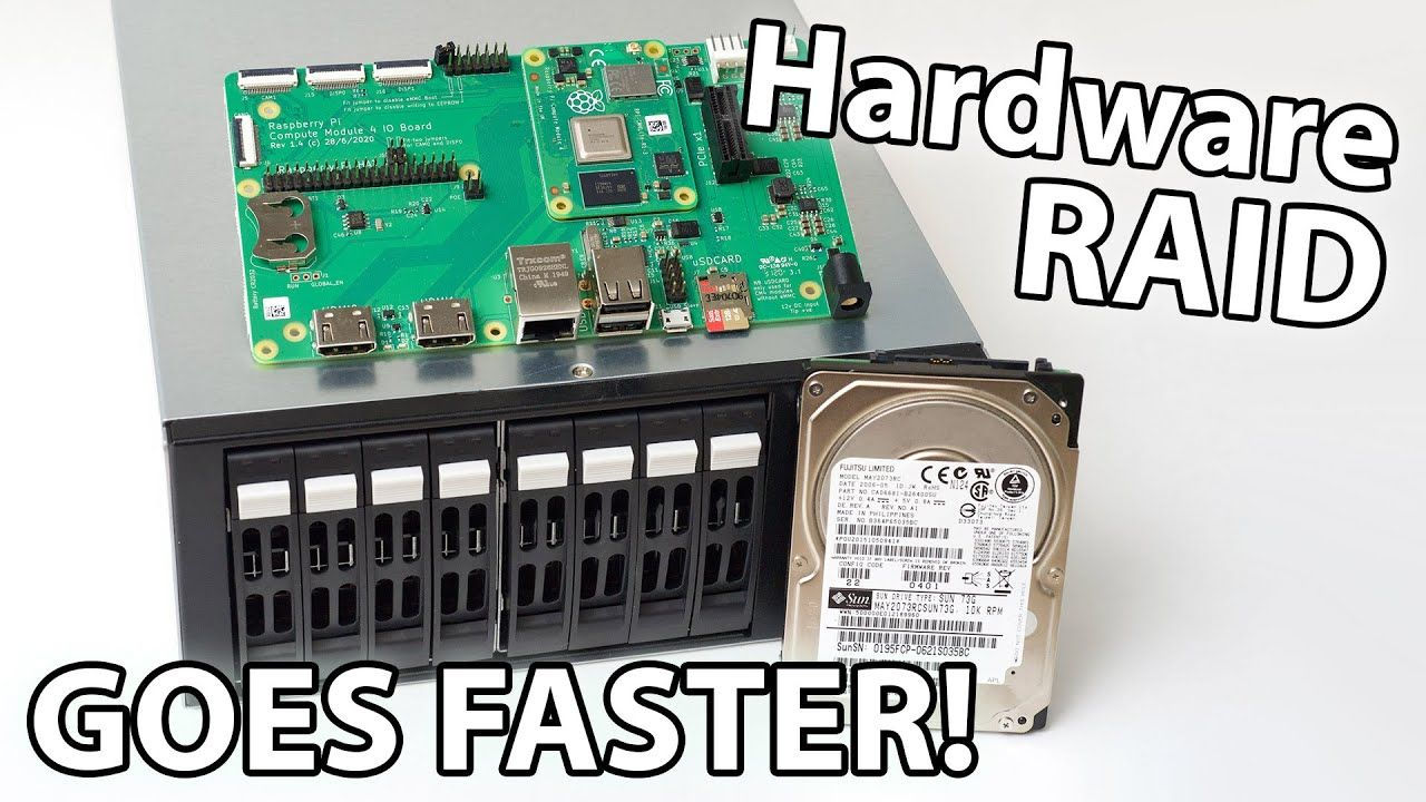 Hardware RAID for the fastest Raspberry Pi CM4 NAS!