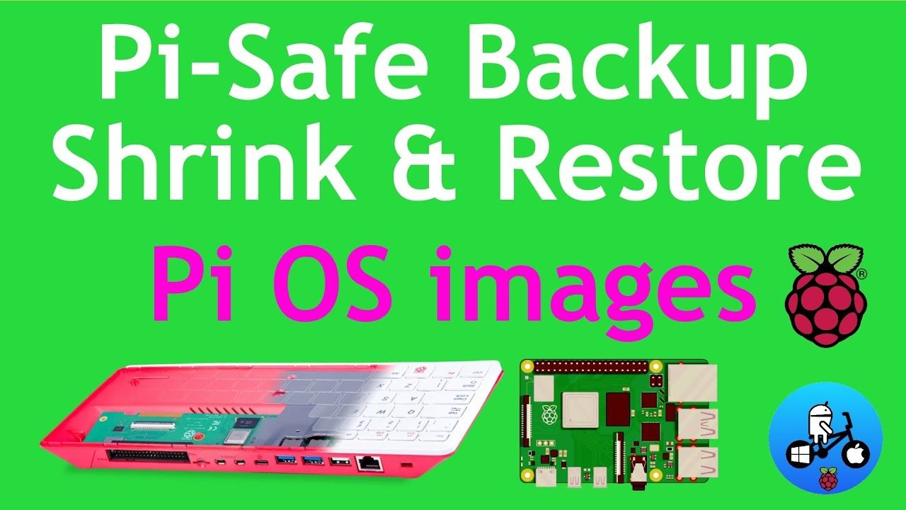 Pi-Safe. Raspberry Pi 4 / Pi 400. Backup, Shrink and Restore SD cards and USB devices.