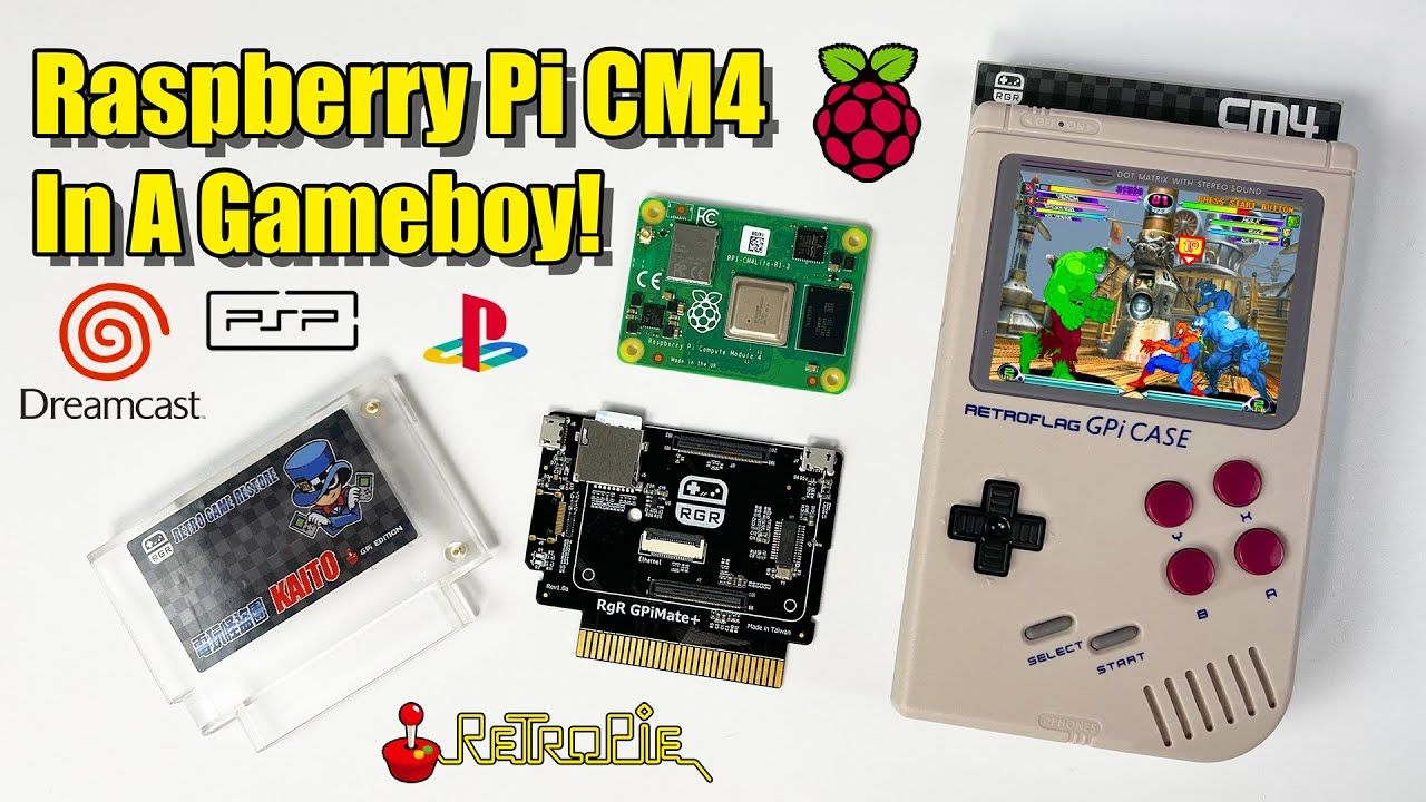 A Raspberry Pi CM4 In A GameBoy! GPiMate Plus Add on!