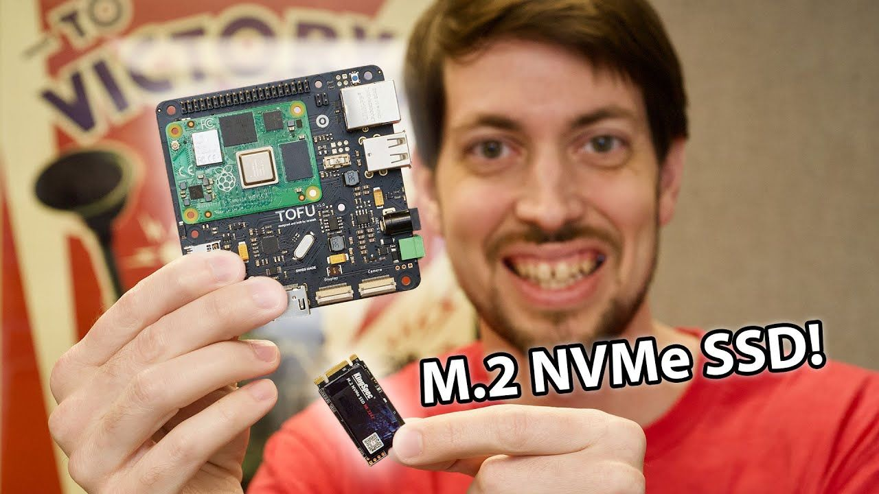 FINALLY! Native M.2 NVMe on a Raspberry Pi – CM4 TOFU