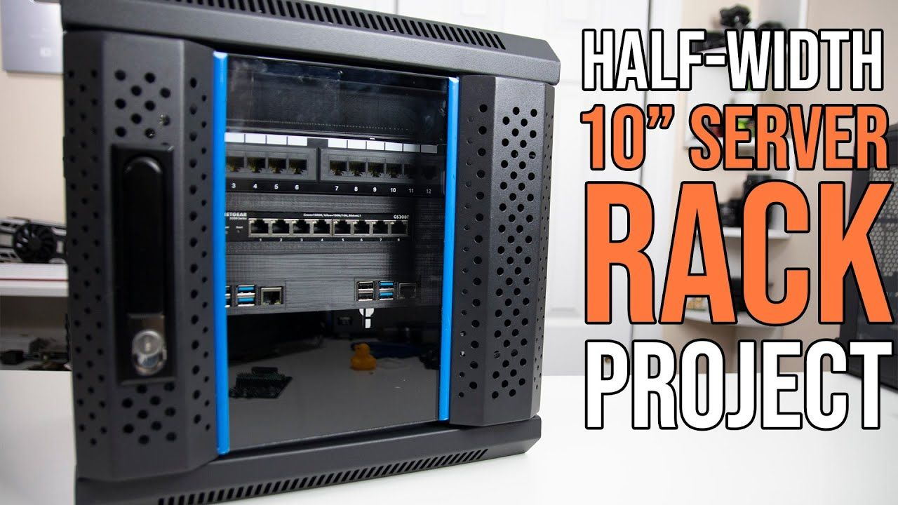 Half-Width 10 Inch Server Rack Project for Raspberry Pi
