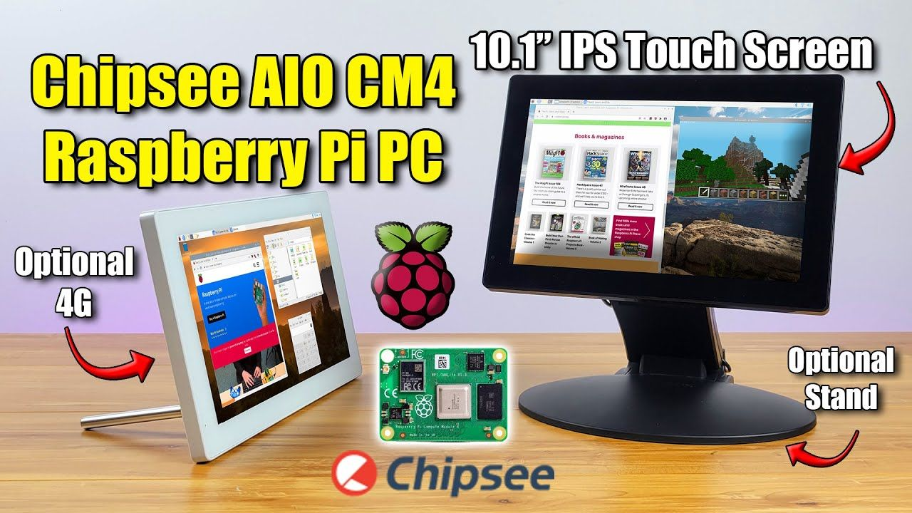 This All In One Raspberry Pi CM4 PC Is Amazing! AIO-CM4-101
