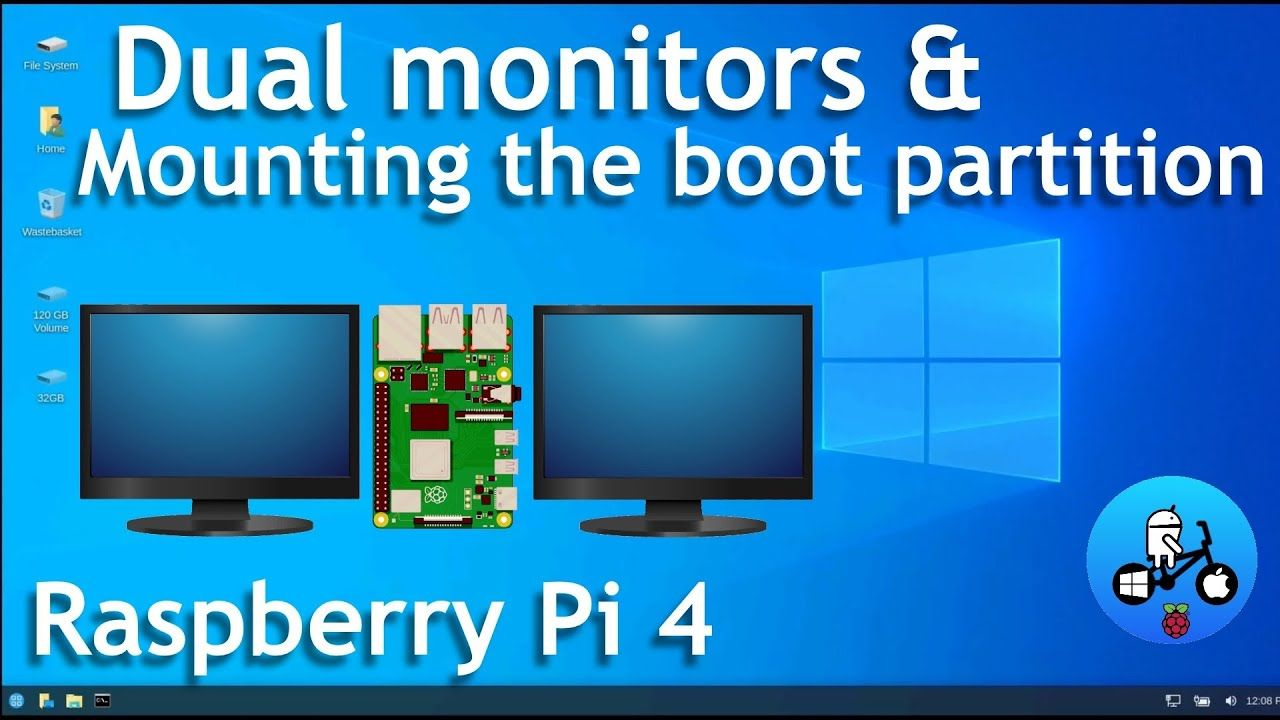 Windows 10 Raspberry Pi 4. Dual Monitors & How to Access the Boot Partition. WOR episode 31.