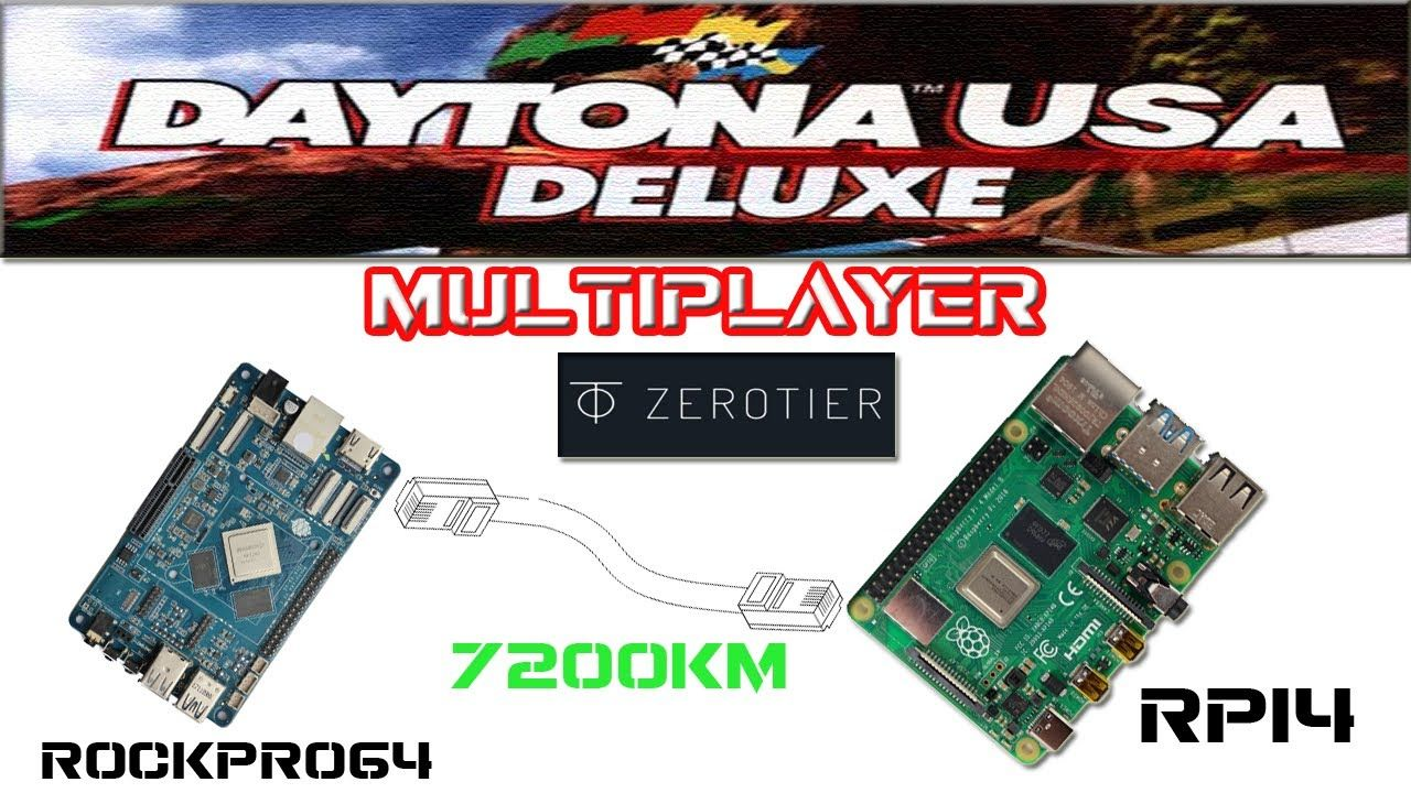 AWESOME!! LAN over INTERNET with ZEROTIER + BOX86 + WINE + DAYTONA USA DELUXE (PC)