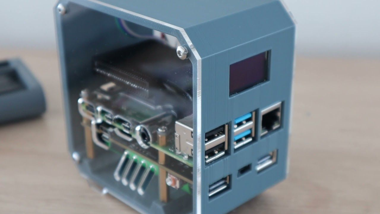 Mini Raspberry Pi Server With Built In UPS & Stats Display