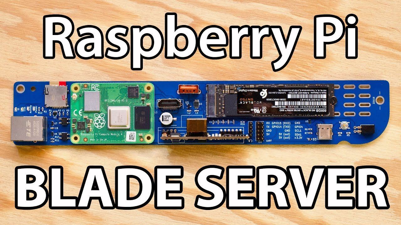 Raspberry Pi Blade crams 64 ARM cores and NVMe in 1U!